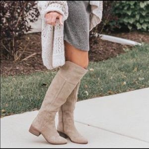 Vince Camuto Kochelda Tan Over the Knee Boot, 9.5